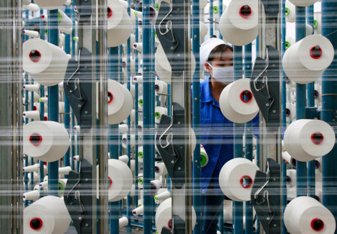 A textile factory in China