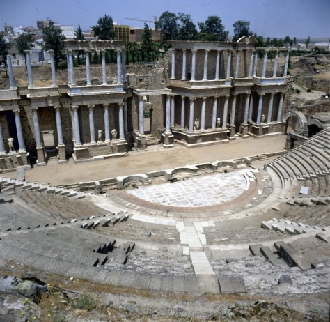 Merida (Spain). The roman theatre built by Agrippa