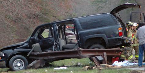 IMAGE: Wrecked SUV