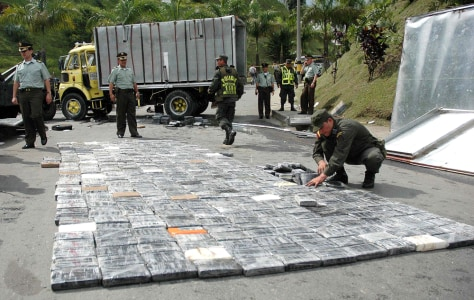 IMAGE: Confiscated cocaine