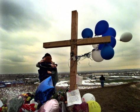 Image: Columbine memorial.
