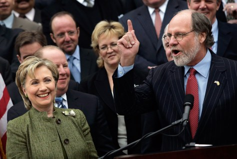 NJ Governor Corzine Endorses Clinton For President