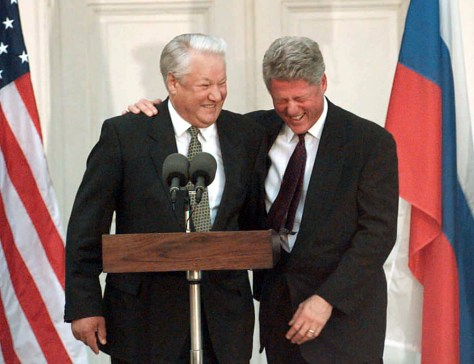 IMAGE: Boris Yeltsin and Bill Clinton