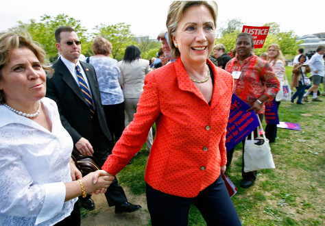 Hillary Clinton Attends Equal Pay Rally At Capitol