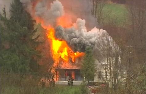 Image: Standoff becomes blaze