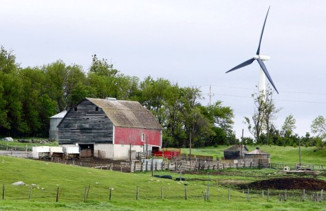 Image: Wind turbine near Pipestone, Minn.