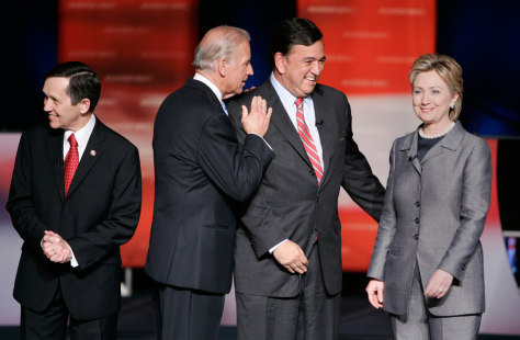 Joe Biden, Dennis Kucinich, Bill Richardson, Hilary Rodham Clinton