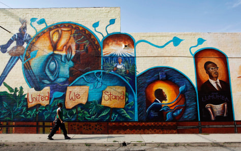 Image: Mural in Leimert Park Village, Los Angeles