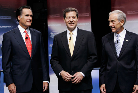IMAGE: Candidates at GOP presidential debate