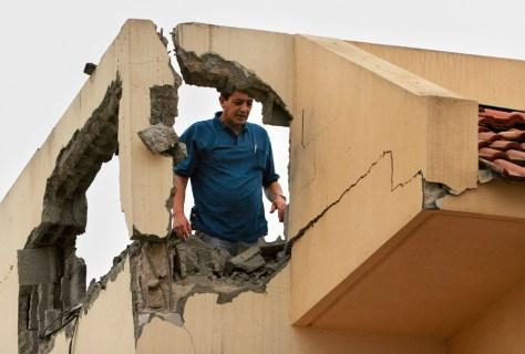 Image: Damaged Israeli home