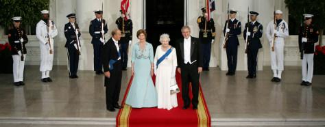 IMAGE: Prince Philip, Laura Bush, Queen Elizabeth II, President Bush