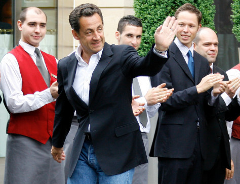 IMAGE: Nicolas Sarkozy a day after triumph