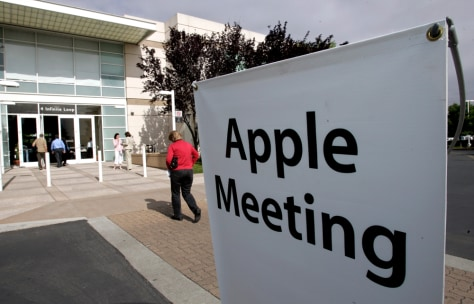 Image: Apple meeting sign