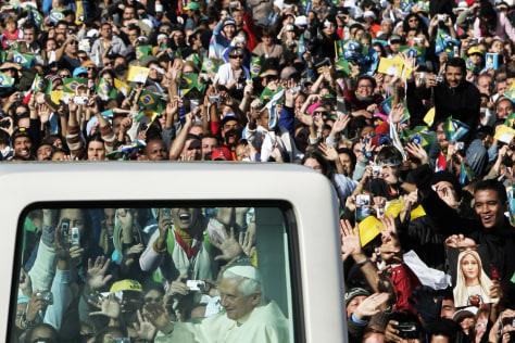 Image: Pope Benedict XVI in Brazil.