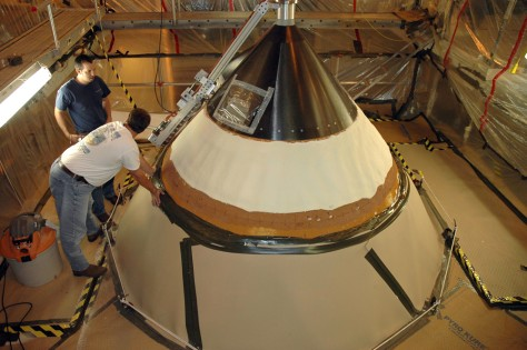 Image: Nose cone inspection