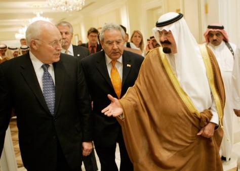 Image: Dick Cheney, King Abdullah