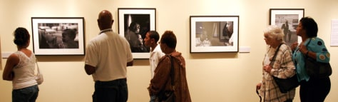 IMAGE: Visitors at Atlanta History Center get final viewing of the exhibit of Martin Luther King Jr. documents