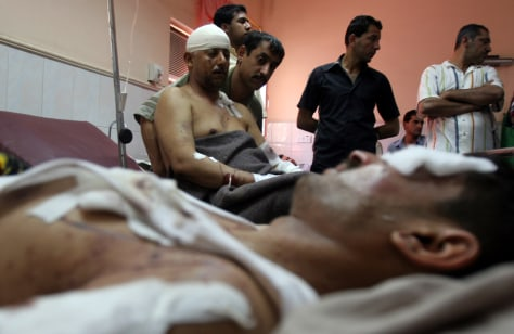 IMAGE: Wounded near Baghdad