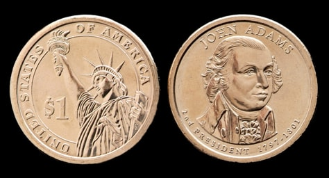Image: The John Adams $1 coin