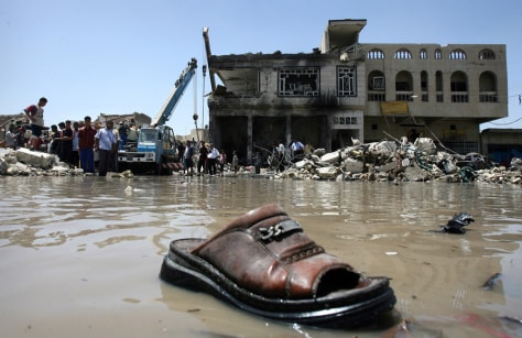 IMAGE: Baghdad market bomb aftermath