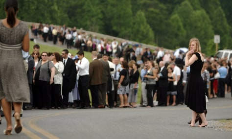 IMAGE: Faithful gather for funeral of Jerry Falwell