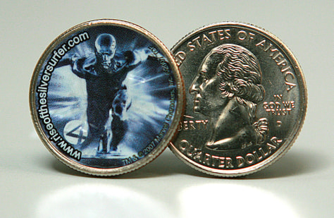 Image: Silver Surfer coin
