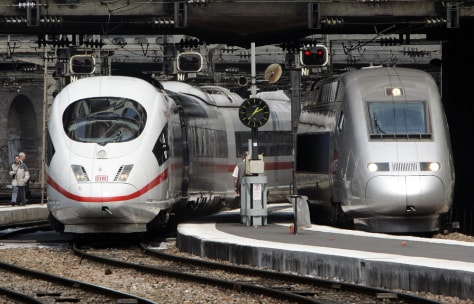 Image: German and French high-speed trains