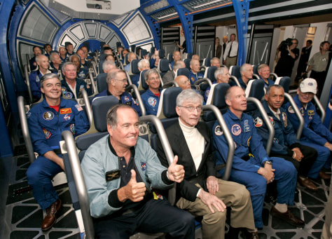 Image: Astronauts ride the Shuttle Launch Experience