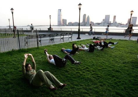 Image: New York fitness boot camp
