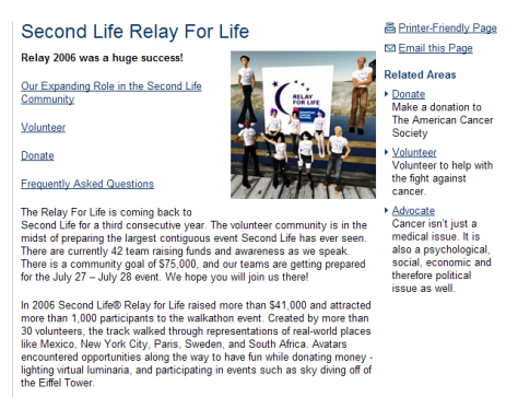 SECOND RELAY FOR LIFE