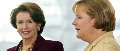 IMAGE: MERKEL AND PELOSI