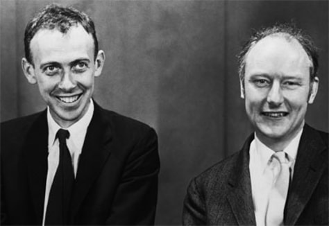 Image: Francis Crick and James Watson