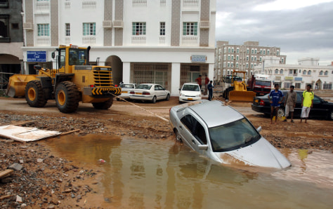 Image: Flooded street.
