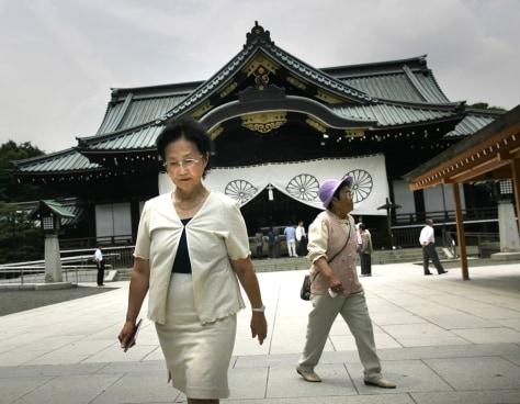 IMAGE: YUKO TOJO AT CONTROVERSIAL SHRINE