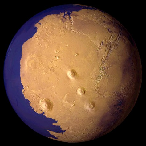 Image: Conception of watery ancient Mars