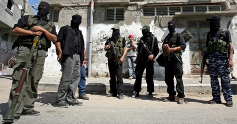 IMAGE: GAZA CITY SECURITY BUILDING TAKEN BY HAMAS