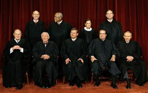 Anthony Kennedy, John Paul Stevens, John Roberts, Antonin Scalia, David Souter, Stephen Breyer, Clarence Thomas, Ruth Bader Ginsburg, Samuel Alito