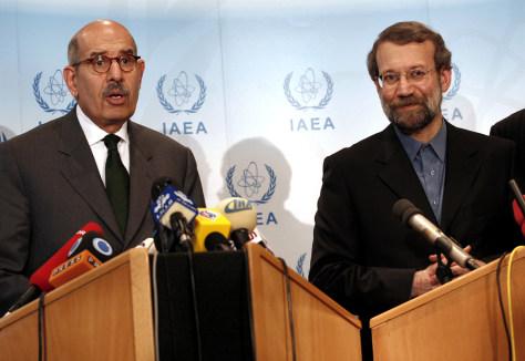 Image: Ali Larijani, Mohamed ElBaradei