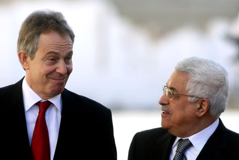 Image: Tony Blair, Mahmoud Abbas
