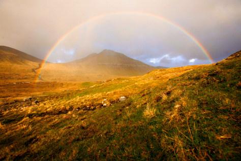 Image: Rainbow on the island of Eysturoy