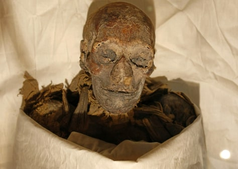 Image: The mummified remains of Queen Hatshepsu.