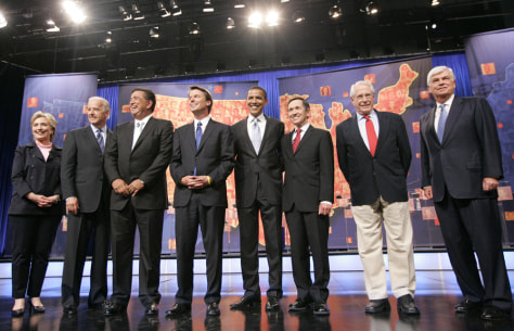 Image: Democratic presidential hopefuls