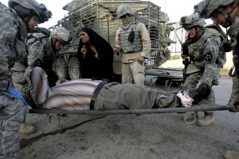 Image: Injured Iraqi
