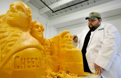 Image: Cheddar cheese Mount Rushmore