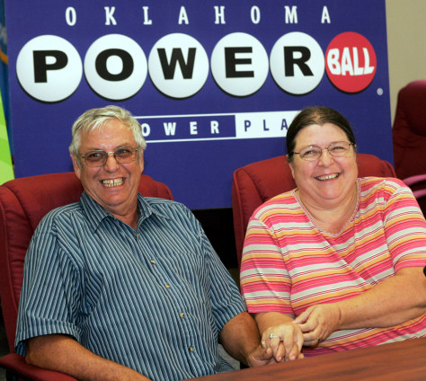 Image: Lottery winners Don Harvey, Joyce Harvey