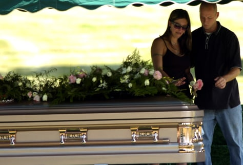 Image: Mourners at funeral
