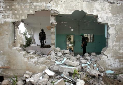 Image: Palestinian masked gunmen