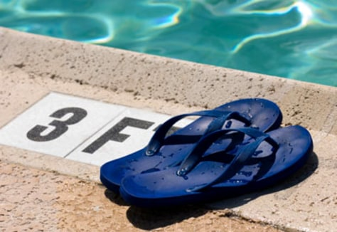 Image: Flip flops and pool