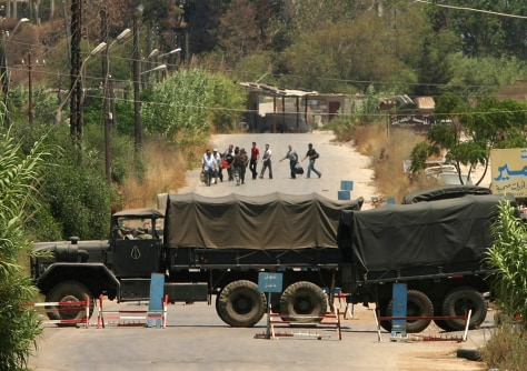Image: Lebanese army trucks