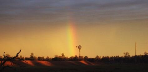 Image: Rainbow in Cobar Australia